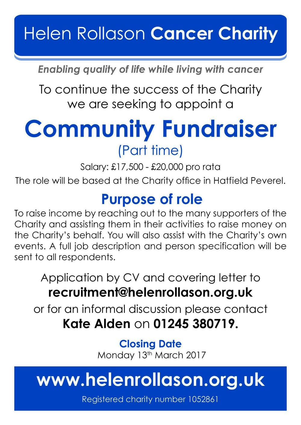 Community Fundraiser Advert