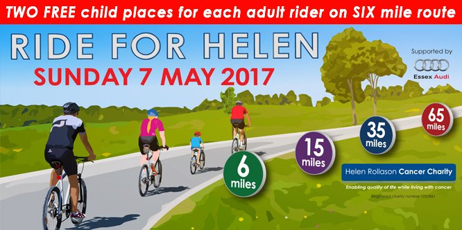 Ride for Helen 2 FREE CHILDREN