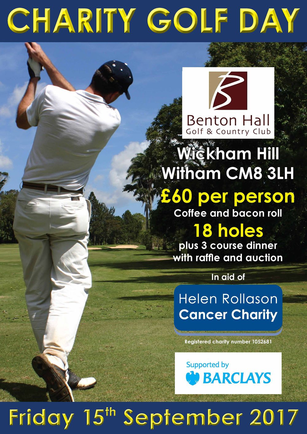 Barclays Golf Day Poster