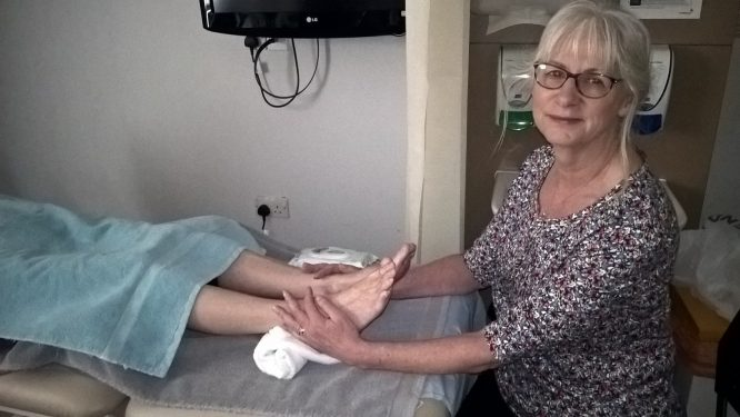 HRCC therapist Jan Smith offers complementary therapies to clients.