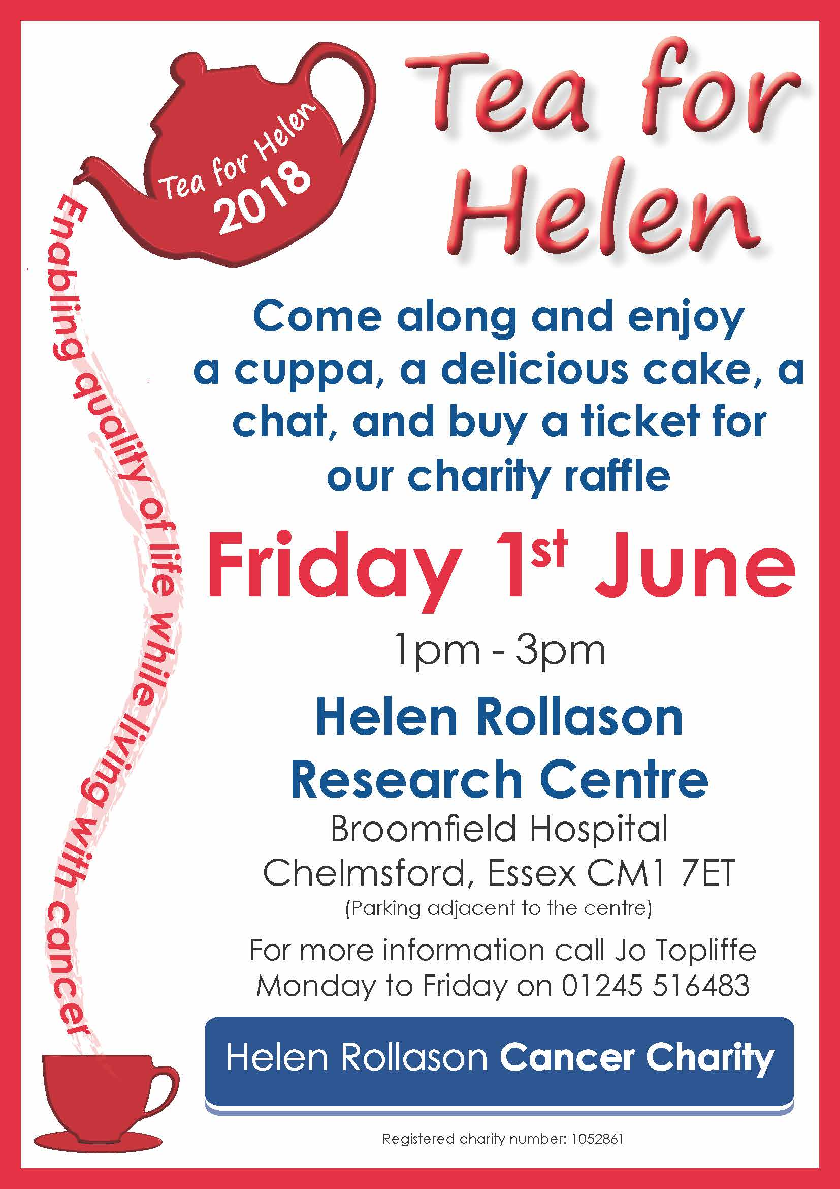 Tea for Helen - Broomfield Hospital 2018
