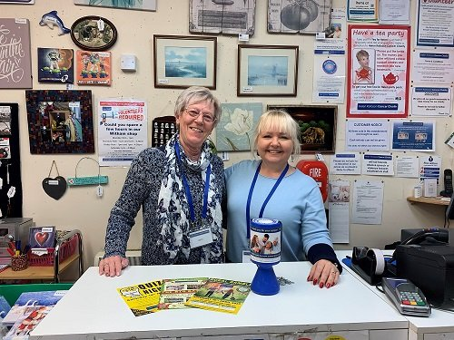 Charity shop volunteers