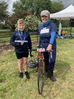 Rider Gregory Bloyce and HRCC CEO Kate Alden