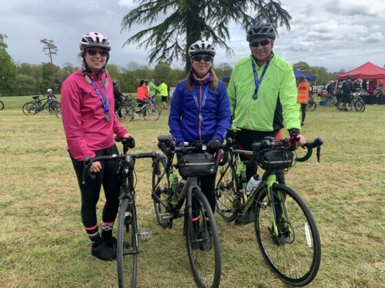 Riders Paula, Richard and Alice Threadgold